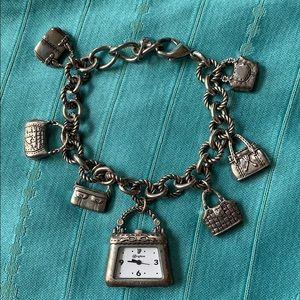 Brighton handbag/purse charm bracelet watch